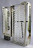 Unabiker Kawasaki 10-12 KX450F Radiator Guards - Bare Aluminum