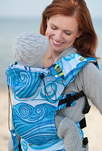 e5091dbe31a Image Unavailable. Image not available for. Color  Lenny Lamb  Blue Waves   Full Buckle Baby Carrier (Toddler)