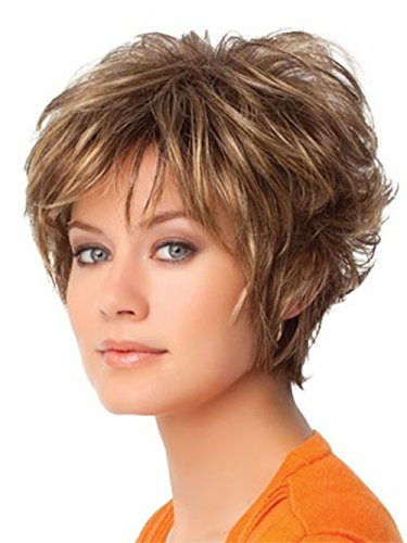 y Women Hair Wigs Heat Resistant Wig Natural Looking Wigs + 1 Free Wig Cap Z022 (Sexy Short Curly Hair Styles)