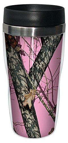 Tree-Free Greetings 77618 Pink Break Up by Mossy Oak Camo Vintage Art Sip 'N Go Travel tumbler, 16-Ounce, Stainless Steel, Multicolored (Oak Tree Vintage)