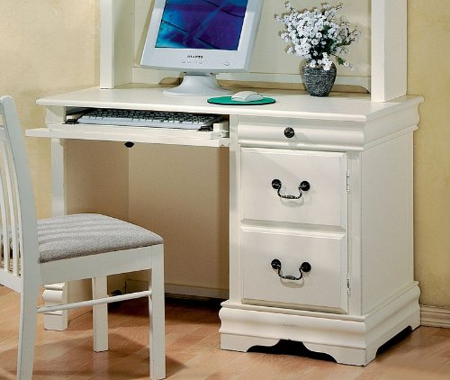 Student Desk Louis Philippe Style in Antique White (Louis Philippe Youth Bedroom)