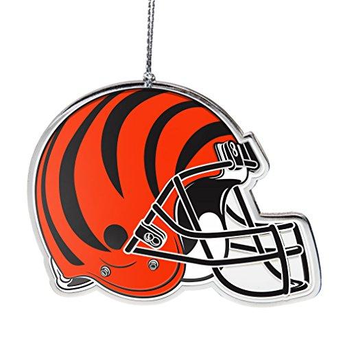 (NFL Cincinnati Bengals Flat Metal Helmet Ornament)