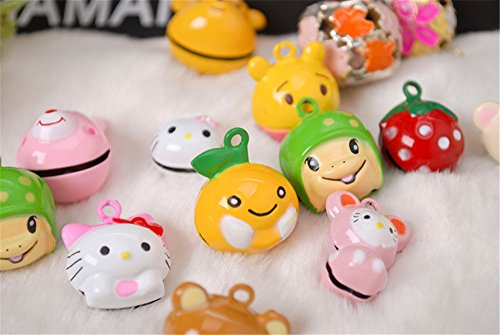 Dolike various style 10 sets mixed Lovely Small Colored Pet Bells Charm Bright for Dog / Cat Collar (send design st random)