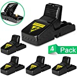 Best Mouse Trap, Mice\Rat Trap Snap Humane Power Rodent Killer, [Quick & Effective] 100% Mouse Catcher, [Safe & Sanitary] Families\Pets Protector - 4 PACK