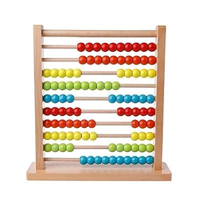 Kofun Shizuhatagayama Perle en bois Abacus Montessori Maths pour l'enseignement et l'apprentissage jouet pour enfants