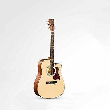 Miiliedy Moda minimalista 41 pulgadas Guitarra acústica Principiantes Estudiante Niños Chicas Guitarra acústica con estuche de guitarra Conjunto de correa de tela para pulir de acordes: Amazon.es: Instrumentos musicales
