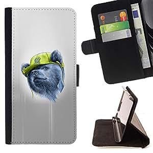 KingStore / Leather Etui en cuir / Samsung Galaxy Note 4 IV / Gangsta Oso
