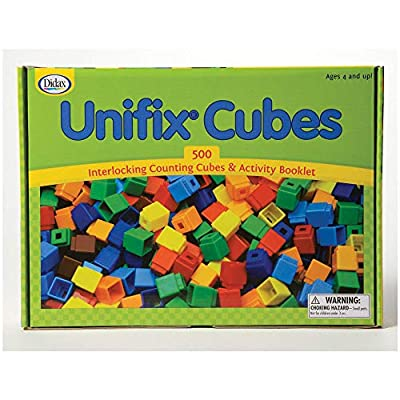 Unifix Cubes, Ten Assorted Colors, Set of 500: Industrial & Scientific