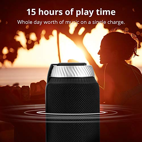 Portable Bluetooth Speaker with Superior Stereo Sound, Tronsmart T6 25W Dual-Driver 15-Hour Playtime Wireless Speaker with Deep Bass, Hands-Free Calling, Perfect for Home, Outdoors, iPhone, Android