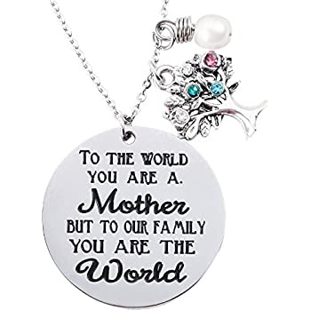 Amazon.com: Udobuy Unique Cute Double Heart Mom I Love You