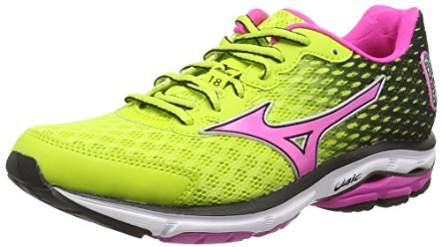 18 Mizuno Wave Zapatillas para running Lime Electric mujer Rider Punch W Mehrfarbig TqEwrqg