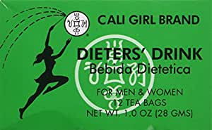Dieter's Drink Cali Girl Brand for Men and Woman NT WT 1.0oz