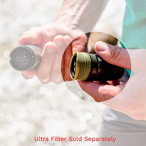 Survivor Filter Replacement Mouthpiece with Integrated Carbon Filter. Fits Survivor Filter Triple Filtration Water Filter Straw.