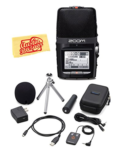 (Zoom H2n Handy Recorder Bundle with Zoom APH-2n Accessory Pack and Austin Bazaar Polishing Cloth)