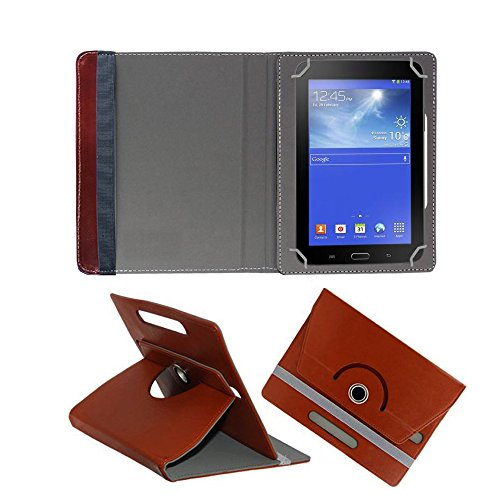 Fastway Rotating 360° Leather Flip Stand Cover for Amazon Fire HD 7 Tablet Brown