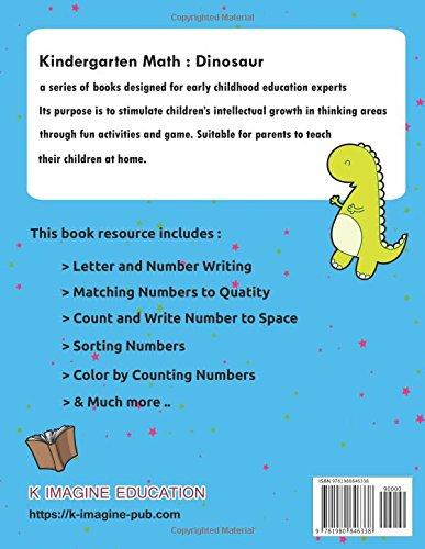 Dinosaur Kindergarten Math Grade K: Basic Counting and Writing for ...