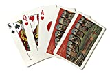 Lubbock, Texas - Greetings from Texas Tech - Vintage Travel Advertisement (Playing Card Deck - 52 Card Poker Size with Jokers)