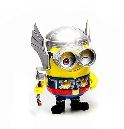 c5ce4a83cd Amazon.com  Despicable Me 2 Thor Odinson Minion Superhero PVC Edition  Figure  Toys   Games