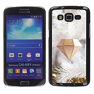 For Samsung Galaxy Grand 2 II / SM-G7102 / SM-G7105 Case , Diamond Christmas Decoration - Diseño Patrón Teléfono Caso Cubierta Case Bumper Duro Protección Case Cover Funda