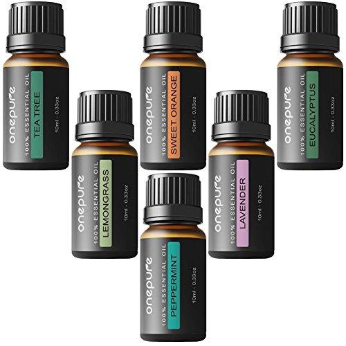 Aceites Esenciales de Grado Terapeutico para Aromaterapia 100% Puros BEST 6 - Los 6 Aceites mas Vendidos, de Lavanda,...