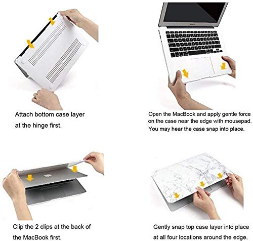 Clear Hard Plastic Shell Cover Protective Case for MacBook Pro 16 Inch AILRINNI for MacBook Pro 16 Inch Case 2019 A2141