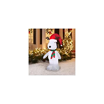 Airblown Inflatable-olaf With Santa Hat