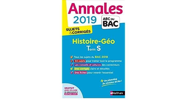 Histoire-Géographie Tle S : Sujets & corrigés: Collectif: 9782091573489: Amazon.com: Books