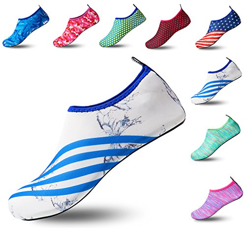 Exercise Aqua Swim White for On Shoes Beach Barefoot Dry Women Sports and Yoga Water Men Butterfly Slip Socks Quick Onx8wXTAAq