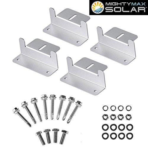 Mighty Max Battery Solar Panel Mounting Z Bracket kit for 100 Watt Solar Panel brand product
