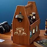 Westbrook Custom Wooden Beer Caddy with Bottle Opener