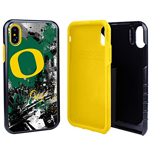 Guard Dog Oregon Ducks PD Spirit Hybrid Case for iPhone Xs Max with Guard Glass Screen Protector
