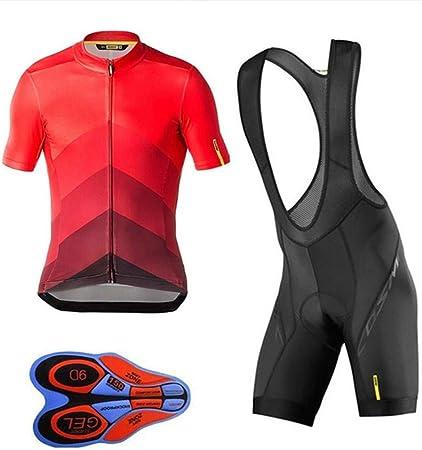 RUI - K25 MTB Ciclismo Maillots,Conjunto de Babero Maillot Ciclismo 9D, Ropa de Bicicleta MTB Uniforme de Secado RáPido para Hombre Trajes Cortos con Almohadilla de Gel(Size:L,Color:si): Amazon.es: Hogar
