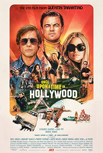 Movie Poster: Once Upon a Time in Hollywood 2019 Posters and Prints Unframed Wall Art Gifts 12x18 (The Best Posters Of All Time)