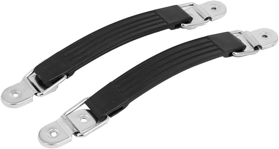 sourcingmap Empuñaduras de plástico negro de 185mm de longitud 2pcs Muebles Caja Maleta