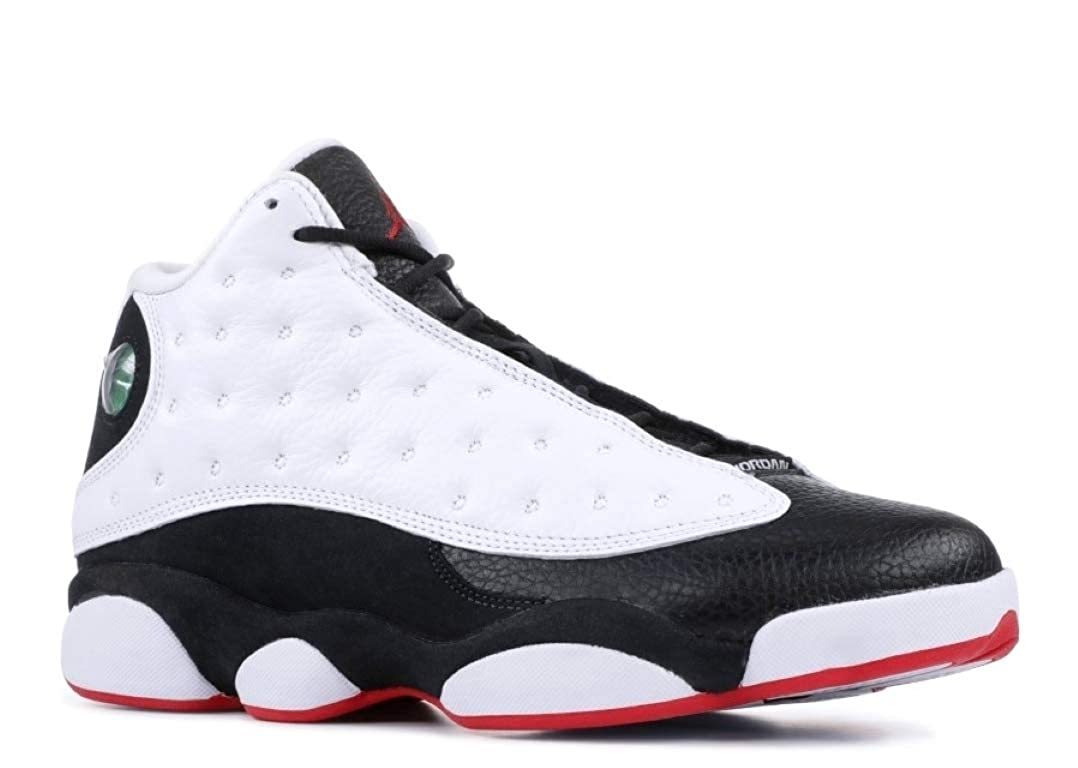 aa8acd715d Amazon.com | Air Jordan 13 Retro 'He Got Game 2018 Release' - 414571-104 -  Size 16 White, True Red-Black | Basketball