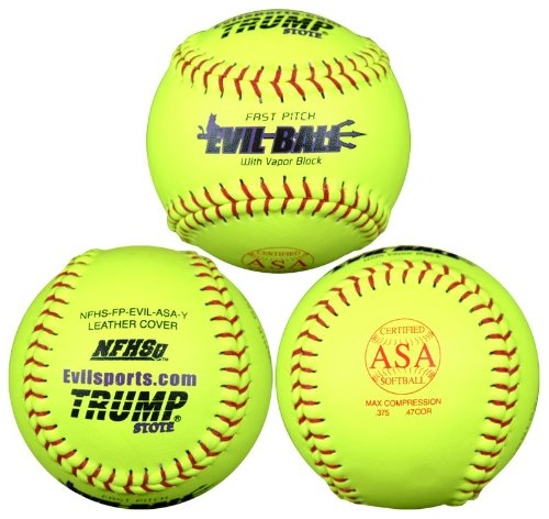 Evil Ball Fast Pitch Softball ASA-NFHS approved leather cover