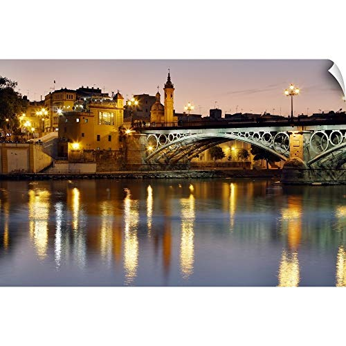 Canvas on Demand Wall Peel Wall Art Print entitled Puente Isabel II (Puente de Triana), Seville, Spain 24''x16'' by Canvas on Demand