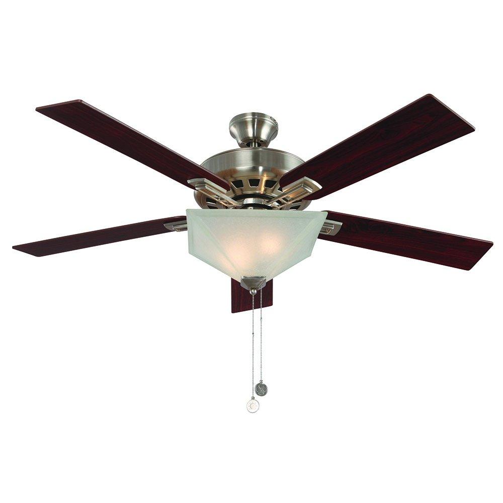 Design House 154401 Hann Ceiling Fan, 52'', Satin Nickel