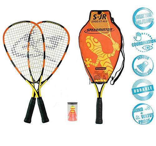 - Speedminton Junior Set - Original Speed   Badminton/crossminton Children's Set Includes 2 Kids Rackets, 2 Fun Speeder and Bag.