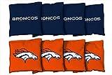 Victory Tailgate 8 Denver Broncos NFL Football Regulation Corn Filled Cornhole Bags