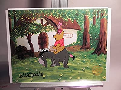 """winnie The Pooh And The Bustery Day"" Disney Cel Signed By Marc Davis"