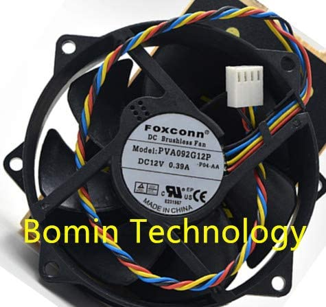 Bomin Technology for Foxconn PVA092G12P 12V 0.39A 4-Wire 9CM Cooling Fan