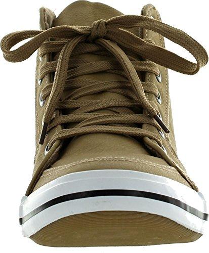 Arider Ar5011 Mens Mode Hög Topp Sneakers Khakia