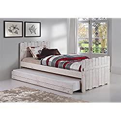 Donco Kids Tree House Twin Bed with Trundle in Rustic Sand Finish