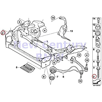 Amazon Com 2 X Bmw Genuine Front Axle Rear Axle Drive Screw With