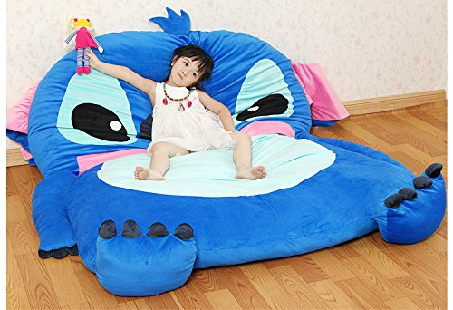 Cute Cartoon Lilo&Stitch Image Sleeping Bag Sofa Bed Twin Bed Double Bed Mattress for Kids by Coosplay