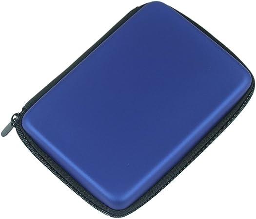 Dosige Funda para disco duro externo 2.5,Paquete de disco duro,Bolsa de almacenamiento con cremallera,Portátil y Bolsa de almacenamiento multifuncional,para Auriculares size 14 * 10 * 4cm (Azul): Amazon.es: Hogar