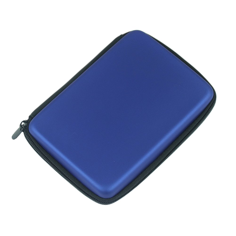 Yonger 2.5'' Cable HDD Hard Disk Pouch Portable Power Hand Carry Zipper Protects Bag Case Cover Blue