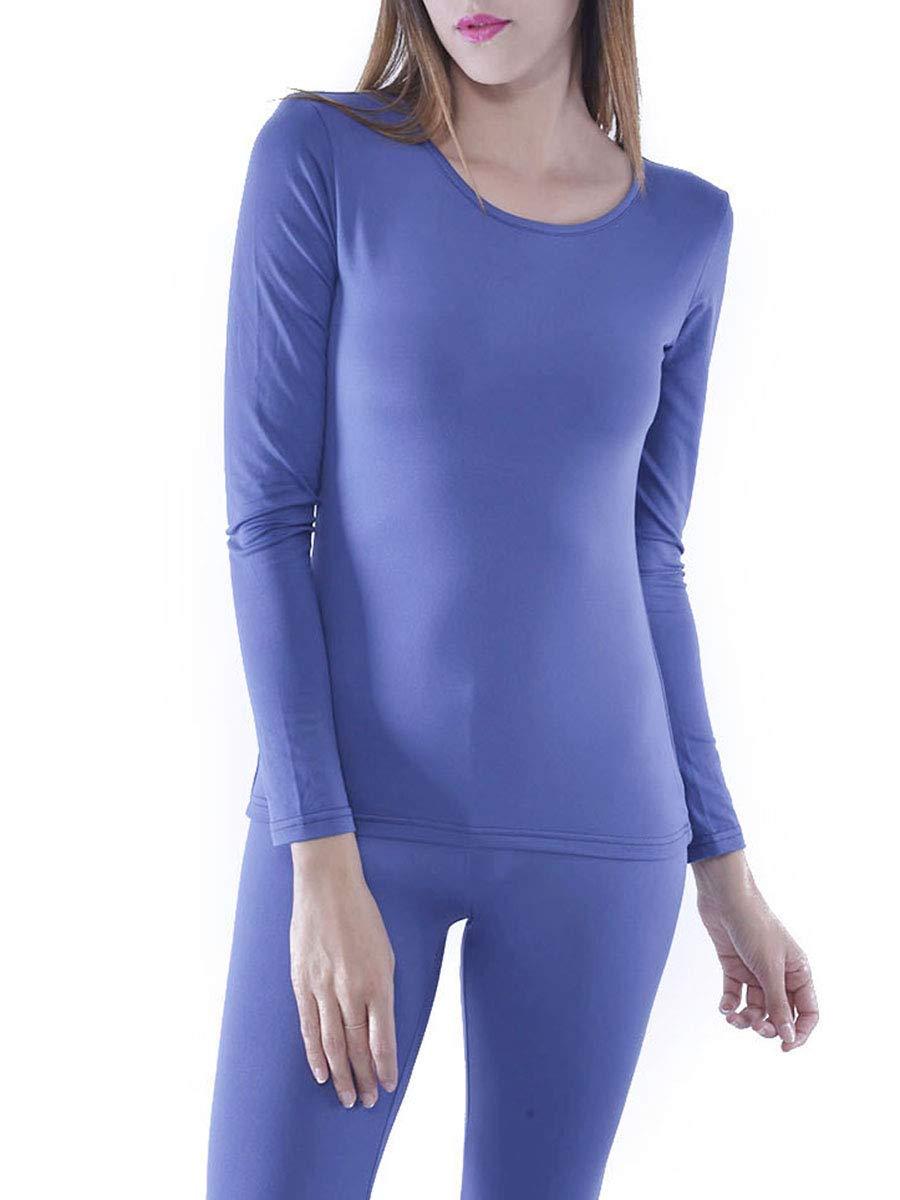 Women's Microfiber Fleece Thermal Underwear Long Johns AZ 2000 Navy L