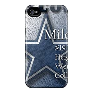 Awesome Design Dallas Cowboys Hard Case Cover For Iphone 4/4s